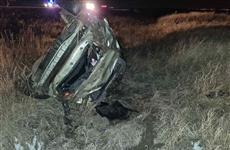 В Красноярском районе погиб водитель опрокинувшейся в кювет иномарки