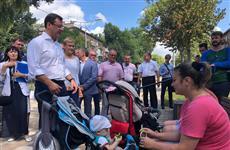Дмитрий Азаров проверил благоустройство пр. Металлургов