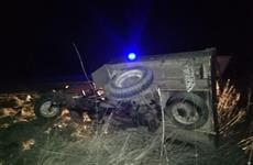 Недалеко от Отрадного пьяный водитель мотороллера с пассажиркой опрокинулся в кювет