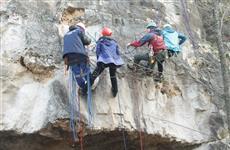 На горе Верблюд прошли учебно-тренировочные сборы по альпинизму