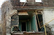 В Самаре рухнула стена дома