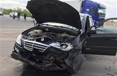 В Сызрани женщина, нарушив ПДД, попала в автоаварию