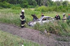 Три человека пострадали в опрокинувшейся в кювет иномарке на трассе М-5