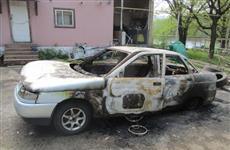 На турбазе в Прибрежном мужчина поссорился с коллегой и поджег его машину