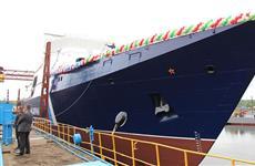 В Зеленодольске спустили на воду новый пограничный сторожевой корабль
