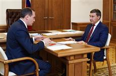 Артем Здунов провел рабочую встречу с Министром науки и высшего образования РФ Валерием Фальковым