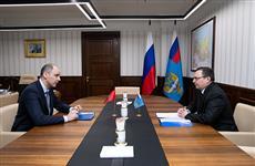 Денис Паслер встретился с заместителем министра транспорта РФ Андреем Костюком