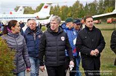 Алексей Русских принял участие в расчистке территории музея истории гражданской авиации