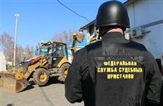 У Речного вокзала Тольятти снесли незаконные торговые павильоны