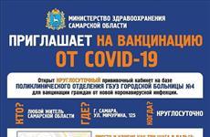 В Самарской области можно сделать прививку от COVID-19 даже ночью