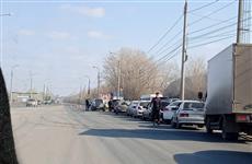 На въездах в Самару начали собираться пробки