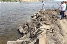 Под Тольятти строительные отходы сваливают в Волгу