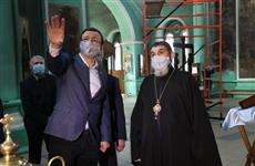 В селе Утевка идут работы по восстановлению уникального Троицкого храма