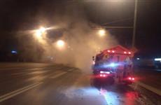 В Самаре на Московском шоссе ночью произошла утечка горячей воды