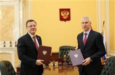 Дмитрий Азаров и министр спорта РФ Олег Матыцин заключили соглашение о сотрудничестве с регионом