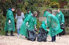 Девять тонн мусора собрали корпоративные волонтеры напляже врайоне 9-й просеки вСамаре