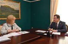 Дмитрий Азаров и Ольга Гальцова обсудили доклад о соблюдении прав и свобод человека