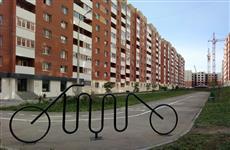 В Новой Самаре появился арт-объект - велопарковка
