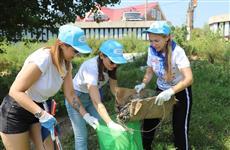"""Экспедиция """"Чистая Волга"""" совместно с самарскими волонтерами провела экологическую акцию в Рождествено"""