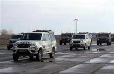 Первая тренировка механизированной колонны к параду Победы прошла в Самаре