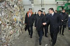 Глеб Никитин и Дмитрий Кобылкин оценили работу мусоросортировочного комплекса на полигоне МАГ-1