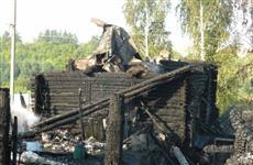 Два человека погибли на пожаре в Красноярском районе