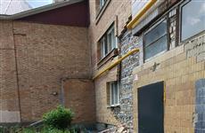 В Новокуйбышевске обрушилась стена жилого дома
