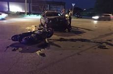 В Сызрани госпитализирован мотоциклист, наперерез которому выехал водитель авто без прав