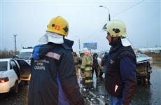 В Самаре в ДТП на Южном мосту один человек погиб и четыре пострадали