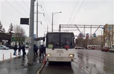На Московском шоссе в Самаре парень попал под автобус