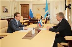 Дмитрий Азаров и Алексей Русских обсудили сотрудничество в научно-технологической сфере