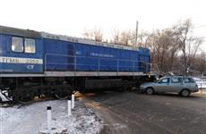Тепловоз столкнулся с легковушкой на пр. Кирова в Самаре