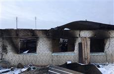 Под Новокуйбышевском рядом с ангаром ДПК пожар уничтожил частный дом