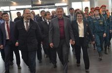 """Почетные гости осмотрели аэропортовый комплекс """"Гагарин"""" и оценили степень его готовности"""