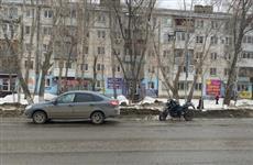 В Самаре произошло первое в этом году ДТП с мотоциклом
