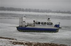 На Проране загорелось судно на воздушной подушке