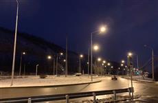 На Красноглинском шоссе включили освещение