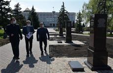 На площади Славы торжественно открыли Аллею маршалов