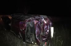 В Красноярском районе Ford Focus съехал в кювет и перевернулся, водитель погиб