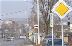 В Похвистневе на участке дороги в 400 м поставили 38 дорожных знаков