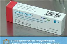 Самарская область получила 550 тыс. доз вакцин от гриппа для взрослых