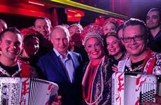 Самарский баянист Сергей Войтенко пообщался с президентом страны на Олимпиаде в Сочи