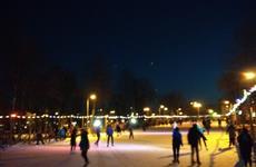 В парке Дружбы заработал ледовый каток