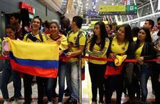 Сборная Колумбии по футболу прибыла в Казань на ЧМ-2018