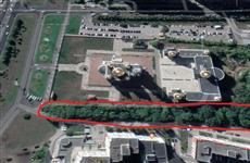 Возле самарского храма Кирилла и Мефодия остановили вырубку деревьев