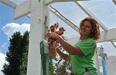 Флористы украшают цветочные платформы к самарскому Фестивалю цветов