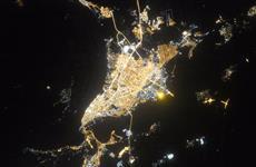 Олег Кононенко сделал фотографию Самары с борта МКС