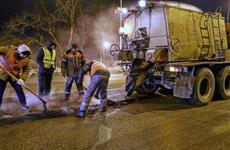 За сутки в Самаре закрыто 320 кв. м ям на дорогах
