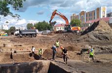 Археологические раскопки в районе строительства Фрунзенского моста завершат в сентябре
