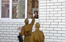 Юнармейцы Самарской области поздравили ветеранов с 9 Мая